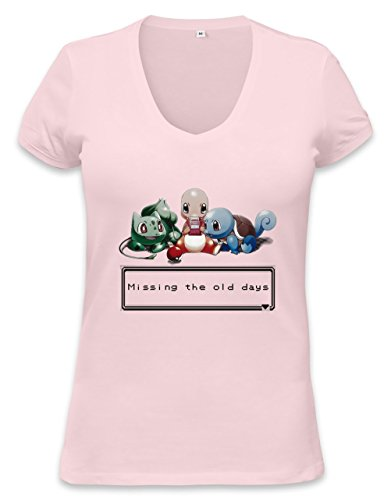 Pokemon Missing The Old Days Womens V-neck T-shirt Small