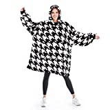 Catalonia classic Wearable Blanket Sweatshirt, Supper Warm Cozy Oversized Plush Blanket Hoodie with Giant Pocket for Women