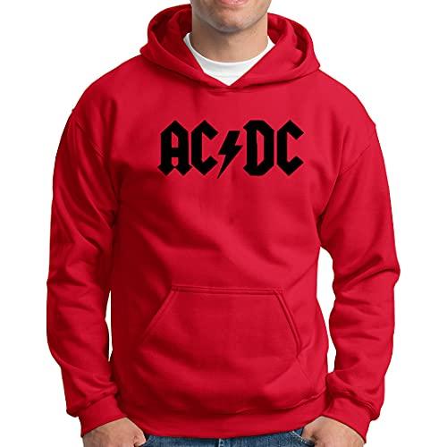 Blusa Agasalho Moletom Canguru com Capuz Unissex ACDC CEUML21 Cor:vermelho;Tamanho:g