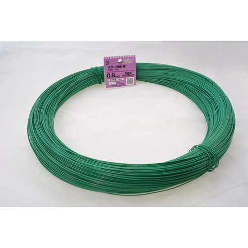 八幡ねじ カラー針金 緑 番手#20×1kg 286m