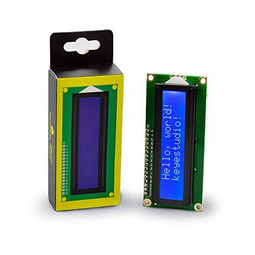 KEYESTUDIO LCD Kit 1602/16 X 2 I2C/TWI Pantalla LCD Módulo Shield para Arduino Mega 2560, R3, Raspberry Pi (Azul)