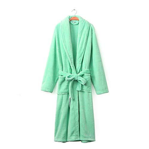 Buyall Bademäntel für Frauen, im Herbst und Winter, langes Coral Velvet-Nachthemd,...