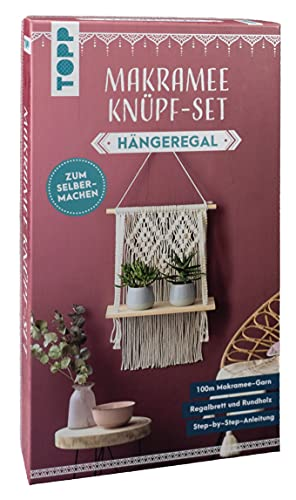 Makramee Knüpf-Set Hängeregal: Anleitung und Material für ein Makramee-Hängeregal im angesagten Boho-Stil. Zum Selbermachen