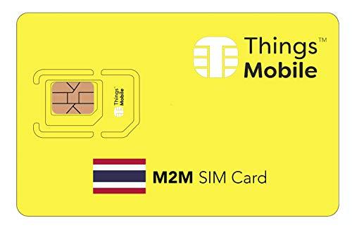SIM-Karte für M2M THAILAND - Things Mobile - weltweite Netzabdeckung, Mehrfachanbieternetz GSM/2G/3G/4G, ohne Fixkosten. 10 € Guthaben inklusive