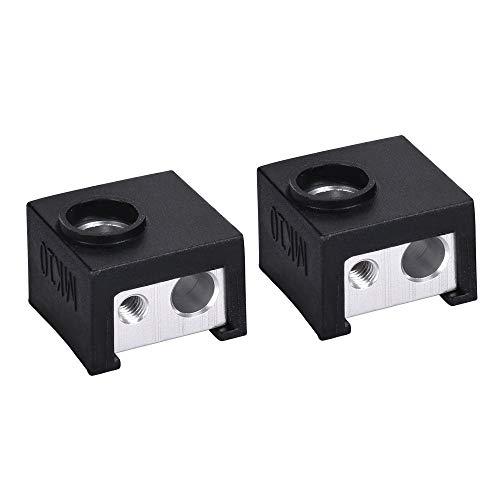 L.J.J MK10 Silicone Socks Fit MK10 Block Instead Ceramic Insulation Hotend Bowden Extruder Silicone Heater Block Cover Heated Block Printer accessories (Color : Free, Size : 1pc sock)