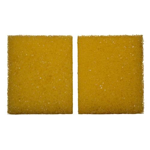 Lote de 2 esponjas de limpieza XXL para piedra de plata, piedra de arcilla, piedra blanca, multiusos.