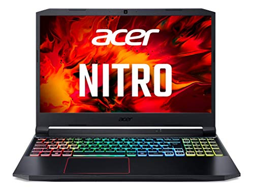 Acer Nitro 5 - Ordenador portátil gaming 15.6' FullHD (Intel Core i7-10750H, 8GB RAM, 512GB SSD, NvidiaGeForce GTX1650-4GB, Windows 10 Home) negro - Teclado QWERTY Español