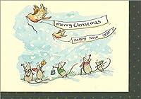 グリーティングカード クリスマス 「メリークリスマス/ハッピーニューイヤー」 XM109