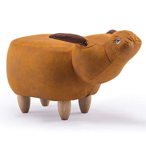 LAOMAO Sillas Taburete, Asiento pequeño, Taburete Animal, Búfalo, Banco de Zapatos, Muebles, Tabur