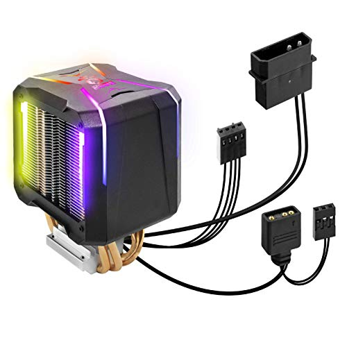 EMPIRE GAMING - Guardian V201-Ventirad Processeur PC Gamer-Refroidisseur Aluminium 4 Caloducs en Cuivre-Ventilateur RGB Sync Adressable-CPU Cooler-Dissipateur de Chaleur Silencieux-Intel et AMD