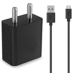 Asus Zenfone Max ZC550KL Compatible Charger Original Mobile Charger, Power Charger, Wall Charger, Fast Charger, Android Smartphone Charger, Battery Charger, Hi Speed Travel Charger With 1 Meter Micro USB Charging Data Cable ( 2 Ampere , Black )