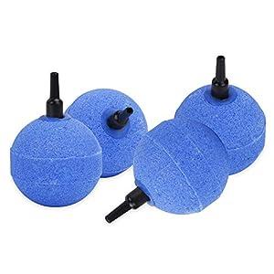 Uniclife 5cm Blue Ball Air Stone Bubble Diffuser for Aquarium 2 W Air Pump, 4 Pack
