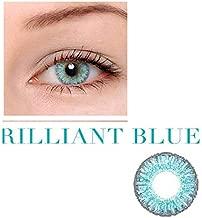 العدسات اللاصقة الملونة للجنسين من مجموعة العدسات اللاصقة للتجميل، استخدام 12 شهرًا مع جراب - أزرق لامع