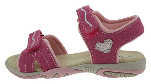 Lamino 120401 Wildleder Sandale pink, Groesse:32.0