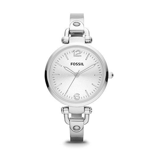 Fossil Damen Analog Quarz Uhr mit Edelstahl Armband ES3083