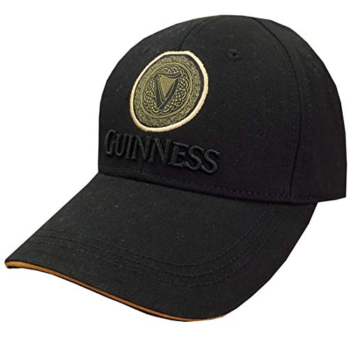 Guinness Black/Tan Celtic Knot Harp Baseball Cap