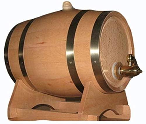 WYFX Estante para vinos Barriles pequeños de Vino Tinto Barril Barriles de Roble Conjunto de Barra de Pino Hotel