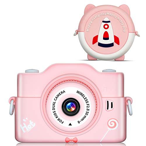 キッズカメラ 令和3年最新版INOCTIカメラ 子供 1080P高画質 子供用 デジタルカメラ 7000万画素 32GBカード付き 連写 タイマー 録画 撮影 自撮り トイカメラ 8倍ズーム 2.0インチ 多機能 USB充電 操作簡単 おもちゃ 知育玩具 子供プレゼント 日本語説明書付き (pink)