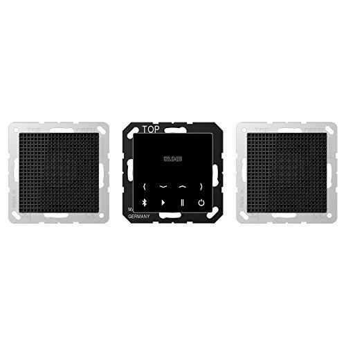 Jung - Kit Estereo Bluetooth Connect Display Negro Altavoz N