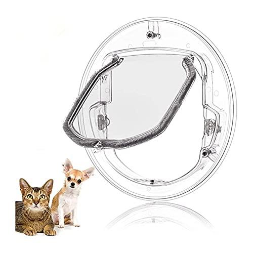 Porta gattaiola Porta dell'animale domestico con serratura per cucciolo di gatto Porta del cane con serratura Porta rotonda trasparente per la finestra dello schermo Porta scorrevole Vetro finestra