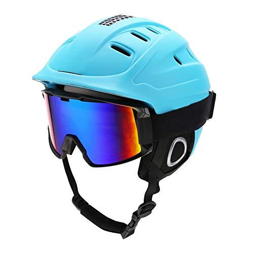 Keenso Skihelm en bril, voor volwassenen, sneeuwsport, skiën, snowboarden, veiligheidshelm + anti-froging bril, 8 soorten