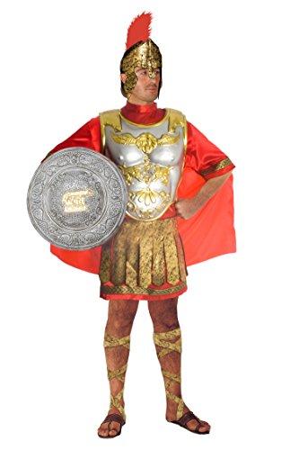 Fiori Paolo 60019 - Soldat Römer Erwachsenenkostüm, Größe L, rot/silber/gold