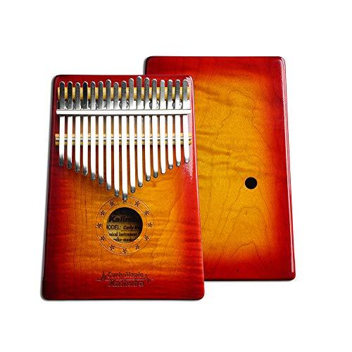 N/A New 17 Key Holz Daumen Klavier Kalimba in C Musikinstrument Spielzeug Geschenk tragbar Sonnenuntergang Farbe MC-S/Box-1