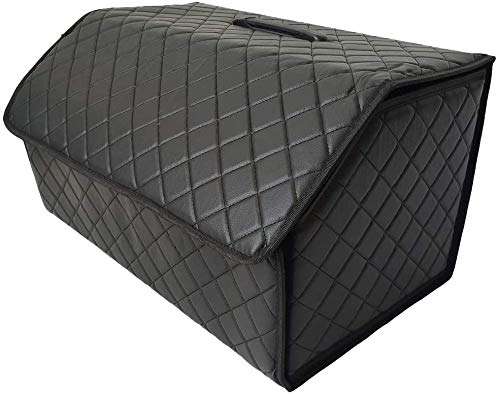 seiyishi 車用 バッグ ボックス トランク ケース Lサイズ 折りたたみ式 レザー ラゲッジボックス 車載 車内 道具 工具 小物 整理 収納 携帯 アウトドア キャンプ 収納ケース 便利グッズ SY-CZSNJ-016 (Lサイズ)