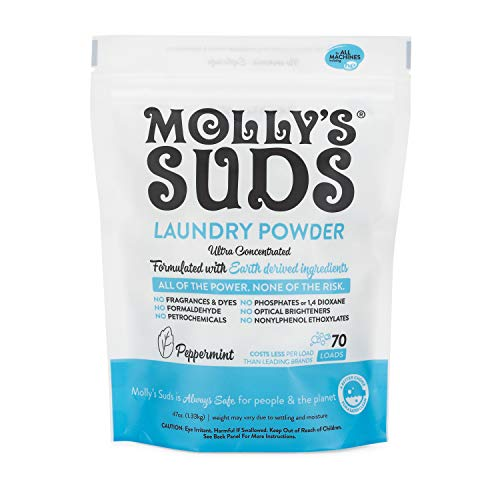 Molly's Suds Original Laundry Powder 70 Loads, Natural Laundry Soap for...