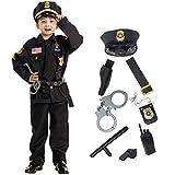 Child Boy Premium Police Deluxe Costume= (Toddler (3-4yr))