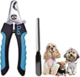Dudi Dog Nail Clippers for Small Medium Breeds and Cat Nail Clippers with Nail File - Razor Sharp Stainless Steel Blades - Non Slip Handles - Suited for Small and Medium Animals and Pets…