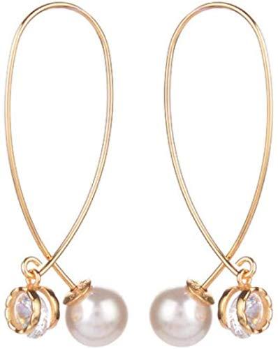 Pendientes Colgantes Bohemios Pendientes de Diamantes de imitación Pendientes Colgantes de Perlas Mujeres Niñas Joyería Regalo
