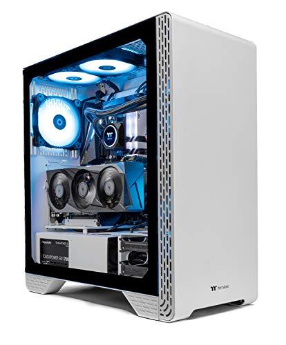 Thermaltake LCGS Glacier 370 AIO Liquid Cooled CPU Gaming PC (AMD RYZEN 5 3600XT 6-core, ToughRam DDR4 3600Mhz 16GB RGB Memory, NVIDIA GeForce RTX 3070, 1TB NVMe M.2, Win 10 Home) S3WT-B550-G37-LCS