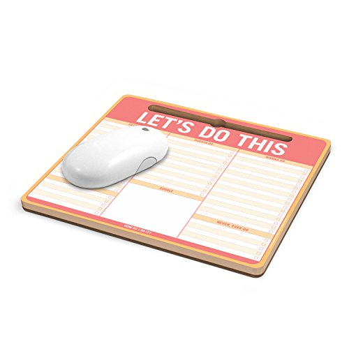Knock Knock Let's Do This Paper Mousepad with Pen Holder (12613) Photo #2