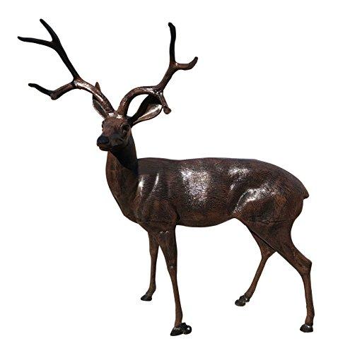 MJM Life Size Deer Buck Aluminum Garden Statues