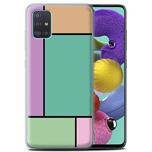 Stuff4 Telefoonhoesje/Cover/Skin/SG-GC/Pastel Tegels Collectie Samsung Galaxy A51 2020 5 Tiles/Turquoise