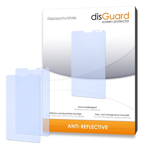 disGuard® Displayschutzfolie [Anti-Reflex] kompatibel mit Huawei Ascend D2 [4 Stück] Entspiegelnd, Matt, Antireflektierend, Extrem Kratzfest, Anti-Fingerabdruck - Panzerglas Folie, Schutzfolie