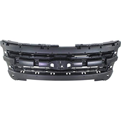 New Header Panel For 2011-2015 Ford Explorer, Explorer Police Inner Grille Mounting Panel, Black, Police, 3.7l Engine FO1223118 BB5Z8A284AA