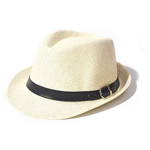 Goquik jazz hoed stro hoed mannen en vrouwen reizen strand hoed schaduw Britse hoed ouder-kind kinderen hoed casual klerk koele hoed