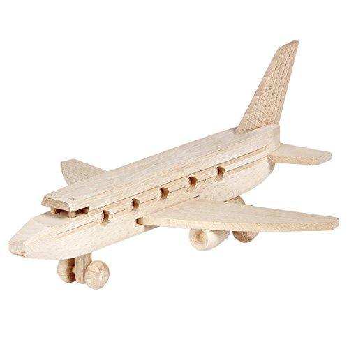 BARTU Holz Flugzeug Passagierflugzeug Spielzeug Holzspielzeug Fliegen