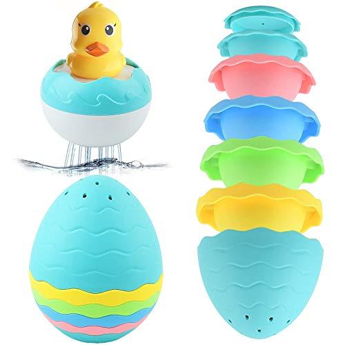 Juguetes de baño, Juguete de Agua, Juguetes, Juguetes de Piscina, Juguete para bebés, Piscina Juegos de Juguete de Baños, Ducha Ducha y Huevo Copa para Toddlers Accesorios de baño de agua flotantes Ba