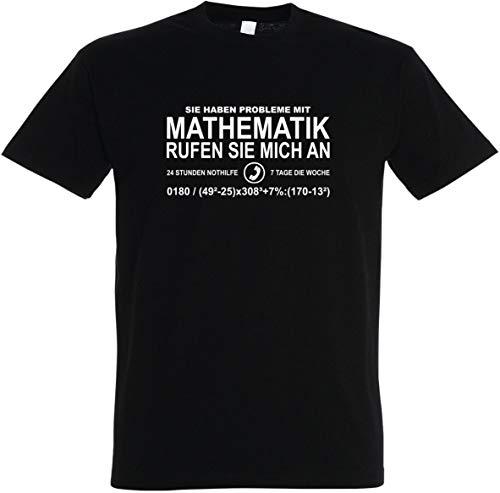 Herren T-Shirt Mathematik - Rufen Sie Mich an S bis 5XL (2XL, Schwarz)