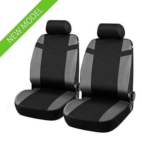 Coprisedili Anteriori compatibili per Yaris Versione (2006-2011 (P9)) compatibili con sedili con airbag, con Fori per i poggiatesta e bracciolo Laterale