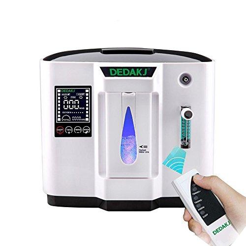 Vogvigo Portable Concentrador y generador de oxígeno 1-6L/min Oxygen Oxígeno de alta...
