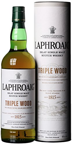 Photo of Laphroaig Triple Wood Single Malt Scotch Whisky, 70 cl