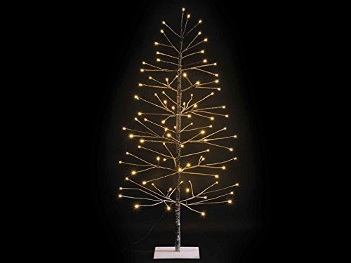 Gruppo Maruccia Albero di Natale Luminoso INNEVATO Marrone con 96 LUCI