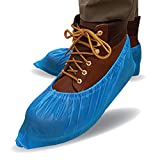 ProtectX Disposable Shoe & Boot Covers, 100-pack (50 pairs), Waterproof, Slip Resistant, Boot & Shoe Covers, Durable CPE plastic, Fits up to Men's 10.5 US Size and Women's 12 US Size Shoes