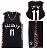 11# Jerseys de Baloncesto, 11 Kyrie Irving Baloncesto Jersey Boston Celtics Jersey, 2 Piezas Baloncesto Performance Tank Top y Shorts Conjunto Hip Hop Ropa-Black-M