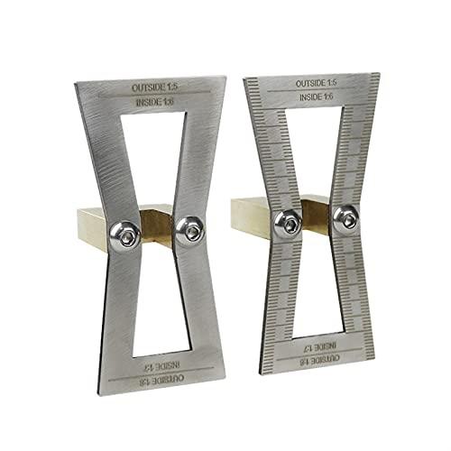 taladro Marcador de lail de paletas 1: 5/1: 6/1: 7/1: 8 Guía de marcado de calibre de plantilla de plantilla para juntas de madera Herramientas de medición de marcas de scriber Fuerte y duradero, fuer