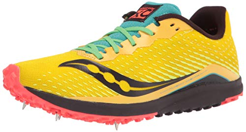 Saucony Women's Kilkenny Xc 8 Running Shoe, Yellow Mutant, Numeric_11